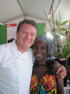 Theo Randall and Patti at Tastes of London 2014