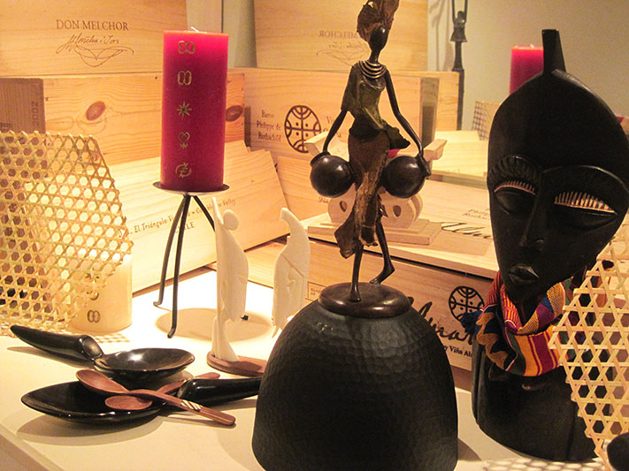 African art meets fine wine