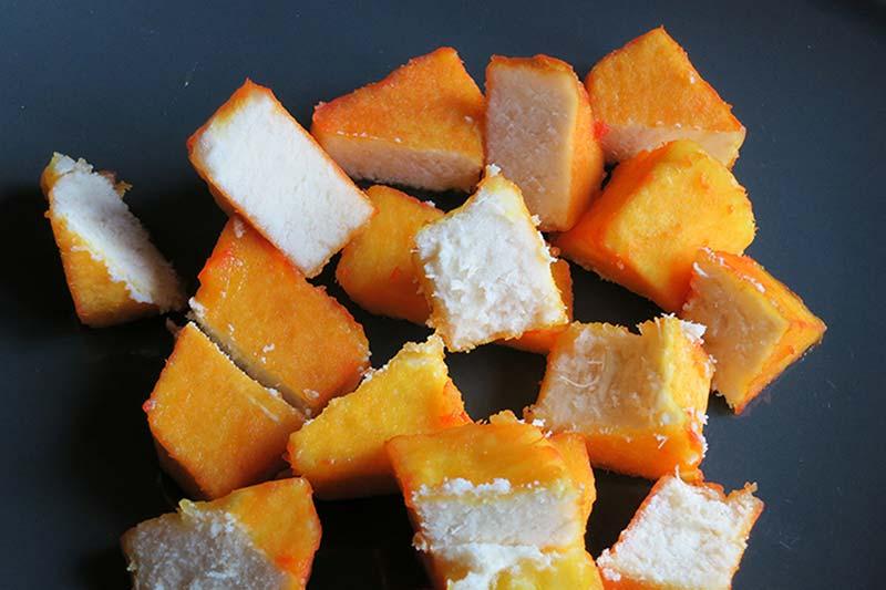 Turmeric boiled yam