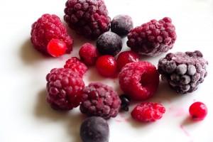 Frozen berries ready for porridge