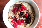 Chocolate and Berry Porridge