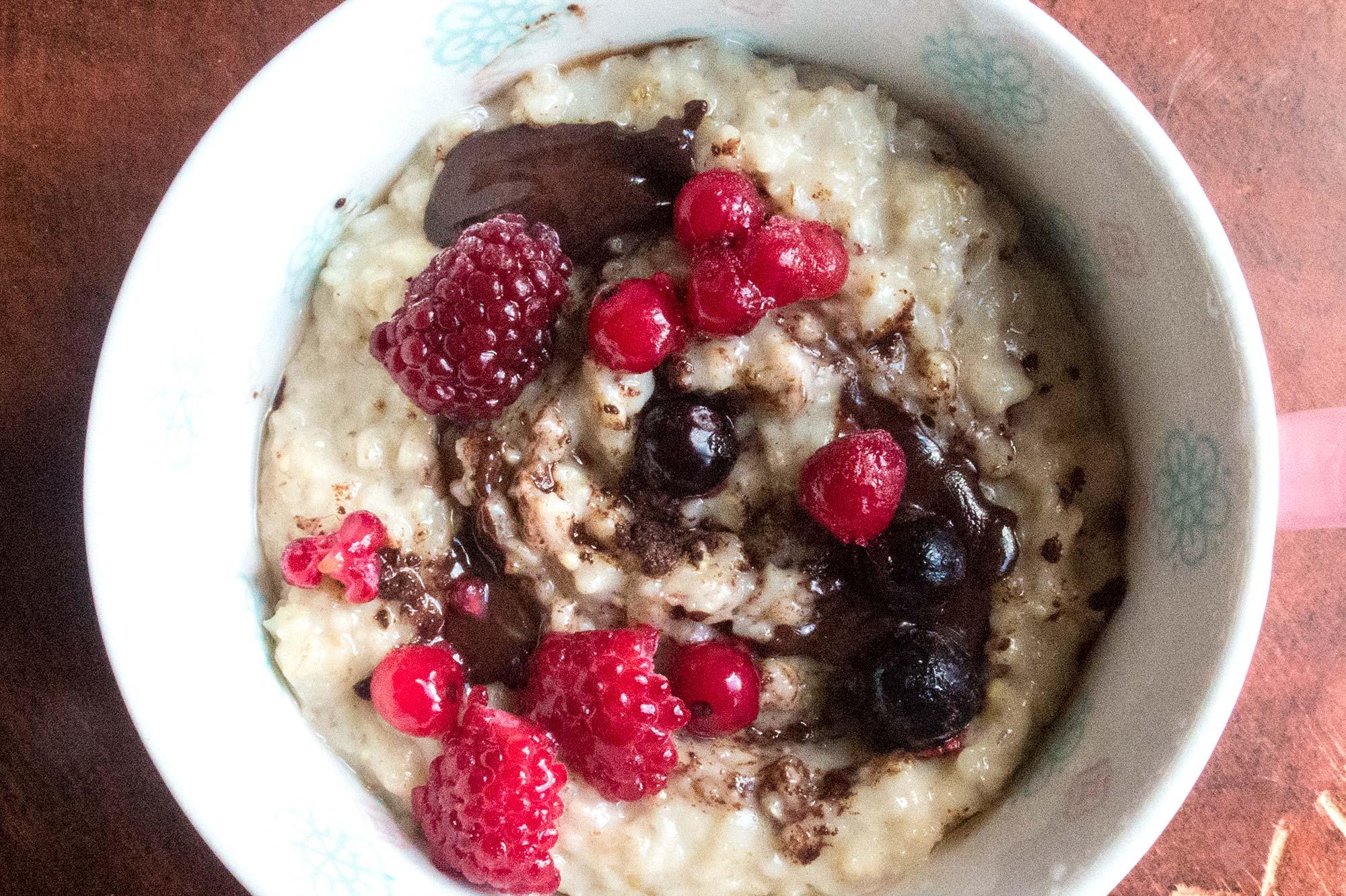 Chocolate and Berry Porridge