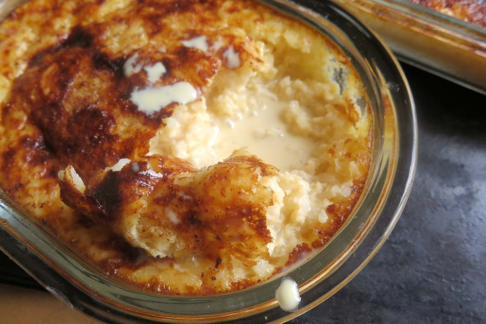Caramelised rice pudding