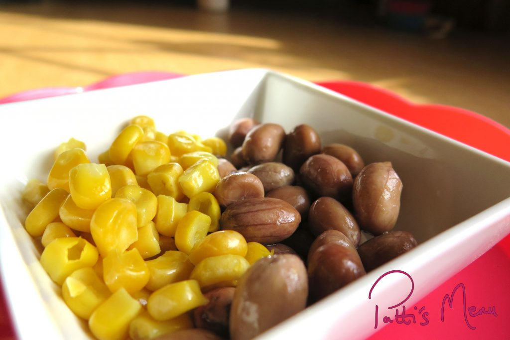 nuts and corn